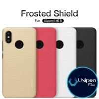 Hard Case Nillkin Super Frosted Shield Xiaomi Mi8 Mi 8 Original Casing - Black