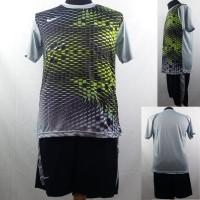 Setelan Baju/Kaos Sepak Bola/Futsal Dri-Fit Print Dewasa Nike Abu 3