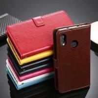 Xiaomi Mi Max 3 Leather Flip Cover Flip Case Wallet Kulit
