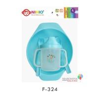 Ninio Baby Feeding Set 4in1 Alat Makan Bayi Piring Sendok Training Cup
