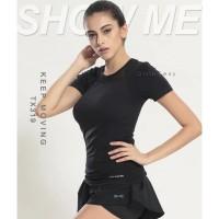 GS0181 baju sport olahraga senam zumba gym yoga jogging running atasan