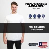 Kaos Polos NSA SOFT New state apparel persis gildan softstyle (WHITE) - White, S