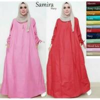 Baju tunik jumbo wanita muslim gamis polos