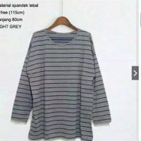 Baju blouse wanita Tunik Salur Jumbo big size