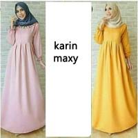 Baju gamis muslim panjang polos maxy Mery