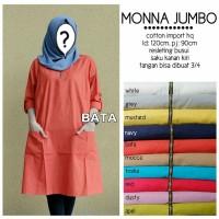 Baju Tunik jumbo wanita muslim Blouse LKM Jumbo