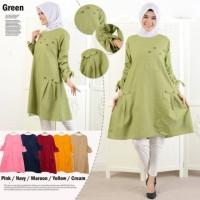 Baju Tunik jumbo wanita muslim Blouse LKMely Jumbo