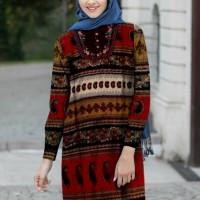 Baju Blouse jumbo Batik Bordir Kembang 3L-5L (motif asli) premium