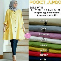 Baju Tunik jumbo wanita muslim Blouse LKP Jumbo