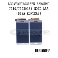 LCD + TOUCHSCREEN SAMSUNG J710 (J7 2016) GOLD AAA (BISA KONTRAS)