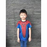 Kaos 3D Baju Anak Superhero Spiderman Amazing 2 Full Print