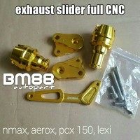 Anti Crash Nmax Aerox PCX Lexi Full CNC - Exhaust Slider Knalpot