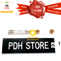 Papan Nama grafir PDH 2.5 x 8 cm Paku Peniti - IDR : 12K/pcs