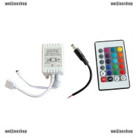 Mini IR Remote Controller For 3528 5050 RGB LED Strip Light 12V 24 Key