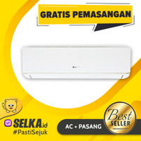 AC GREE GWC-07C3E / 07C3E + PASANG DELUXE LOW WATT ECO FRIENDLY 3/4 PK