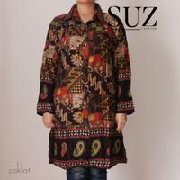 SUZ Kemeja Wanita Long Tunik Muslim Jumbo BATIK 9573