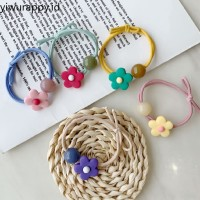 Color Flowers and Beads Candy Color Hair Accessories Korean Version W