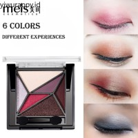 Meis Palet Eyeshadow 6 Warna Matte Shimmer Tahan Lama Anti Air