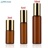 Essential Oil Perfume Brown Glass Roll on Bottle 3 Sizes Refillable C