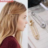simple metal curved pin shape hairpin headdress female bestopp