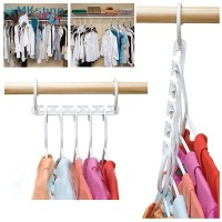 Space Saver Wonder Magic Hanger Racks Hook Closet Organizer Storage H