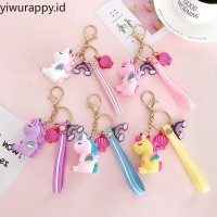 Cute Unicorn Keychain Pendant women Bag Key Ring Car Ornaments Gifts