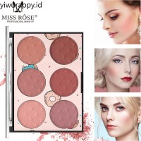 MISS ROSE Six color Blush Natural Long lasting Transparent Window Ski