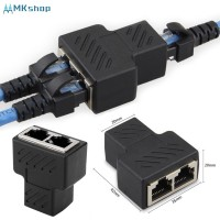1 to 2 Port RJ45 LAN Network Splitter Extender Adapter Plug Copper Co