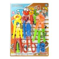 Mainan Anak Tool Set - Alat Tukang Pertukangan Builder - Obeng Baut