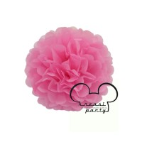Pompom Kertas S/Pompom Pink 20cm/Pompom Bunga/Pompom Kertas Pink