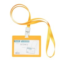 Bantex ID Card Holder Larnyard 90x54mm Landscape Mango #8863 64
