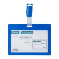 Bantex ID Card Holder With Clip 90x54mm Landscape Cobalt Blue #8864 11