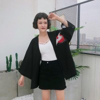SALE Bikini Outer Blazer Wanita Cardigan Kimono Lengan Panjang Jepang