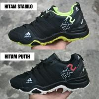 Sepatu Sport Adidas AX2 Goretex Navy Hijau Stabilo / Running Outdoor