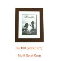 Bingkai Foto/Frame Foto 8R/10R (20x25 cm) Coklat Serat Kayu 3 cm