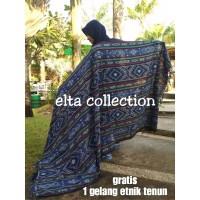 Kain tenun ikat etnik selimut atau blanket