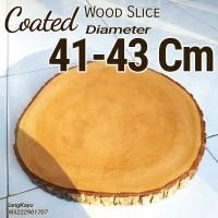 Coated wood slice 41-43 cm Talenan besar nampan tray Tatakan kayu