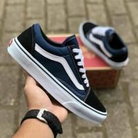 Sepatu Sneakers Vans Oldskool Navy / Biru Dongker - 37