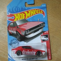 Hot Wheels Nissan Skyline 2000 GT-R Police Merah