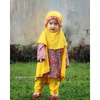 Baju Muslim Batik Anak Perempuan - Setelan Baju Bayi - Kikan Set