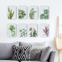 Dekorasi Pajangan Kamar Rumah Ruangan Poster Vinyl Tanaman Hias