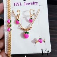 xuping set perhiasan anak lapis 24k 2925a