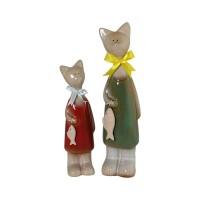FESTIVA FURNITURE Cat With Fish Set Of 2 – Patung Hias / Dekorasi