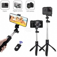 K06 Selfie Stick Tongsis With Bluetooth Tripod Standing Grip Karet - K10