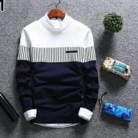 nisa colection (BEST SELLER) sweater rajut pria ZICO SWEATER NAVY