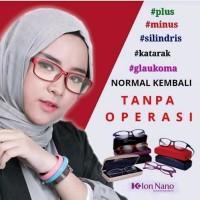 K-Ion Nano Black / Kacamata Terapi Kesehatan Mata Untuk Pria/wanita