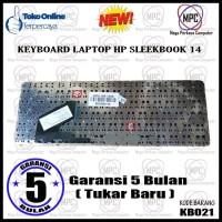Keyboard Laptop HP Pavilion Sleekbook 14-B000 14-B100 14Z-B100 Hitam