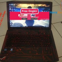 Terhot Garskin Laptop Full Body Asus Rog Gl552 All Series-Circuit Red-