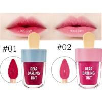 NV5191-01 WINE RED NOVO CUTE ICE CREAM SHAPE LIP TINT LIP GLAZE GLOSS