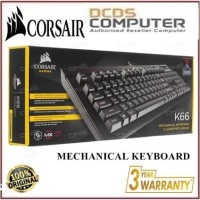 Corsair K66 Mechanical Gaming Keyboard Cherry MX Red CH-9103000-NA
